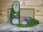 Preview: Tofee ladies slipper green owl