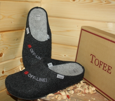 "Tofee Men´s Slipper Black ""Off-line"""