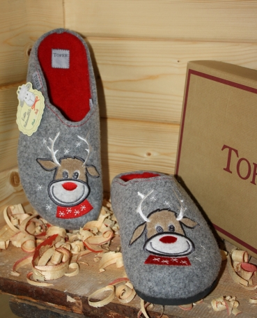 Tofee Ladies Slipper grey  Deer