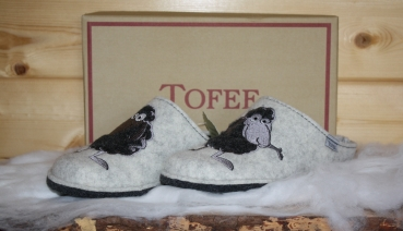 Tofee Ladies Slipper white sheep