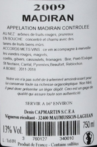Chateau Barréjat Tradition Madiran 2009