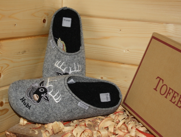 "Tofee Men´s Slipper Grey ""Hubi"""