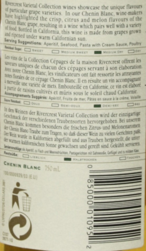 Rivercrest Chenin Blanc 2001