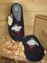 "Tofee Ladies Slipper Blue ""Schafe Locken"""
